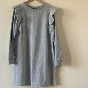 WHO WHAT WEAR Grey sweatshirt dress